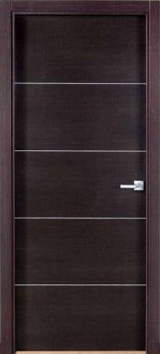Laminadas de aglomerado for Puertas de madera exterior modernas