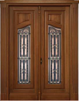 Puertas de exterior entrada calle madera maciza tattoo - Puertas de madera para entrada principal ...