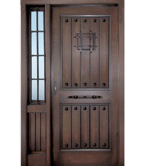 Puertas de exterior r sticas for Puertas de madera maciza exterior